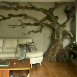 Tree in the room.