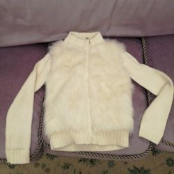Cardigan Gap with fur on a zipper height 152