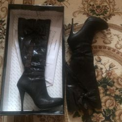 Boots genuine leather size 37