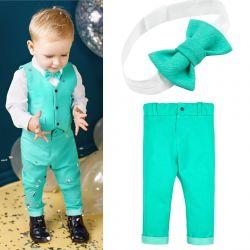 Mentol Çocuk Jeans Kostüm
