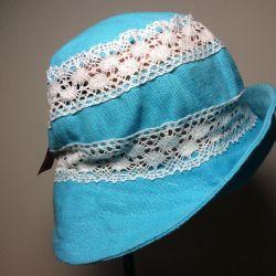 Шляпка бирюза, арт 041, размер 56-57