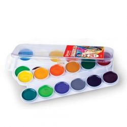 Χρώματα χρώματος νερού BRAUBERG, 24 χρώματα, μέλι
