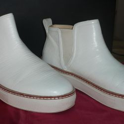 Çizme demi-sezon renk beyaz