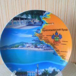 Сувенир тарелка на подставке