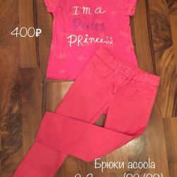 Pants, jeans for a girl 2-3 years old