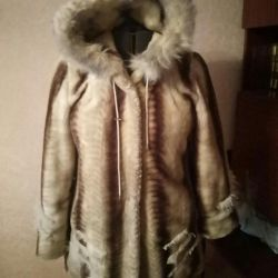 The fur coat is warm, comfortable, bargaining
