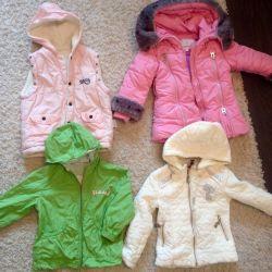 Курточки на девочек