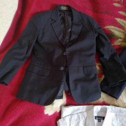пиджаки новые на мальчика 128-135/140/152см.