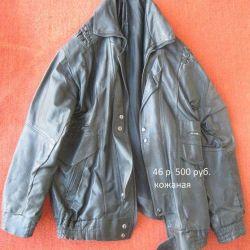 black leather jacket 46 size