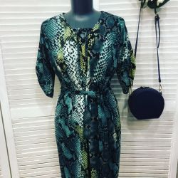 Elegant chiffon dress 46-54