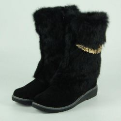 Winter Boots 37p Natural suede
