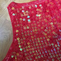 Top entirely in paillettes S-M size