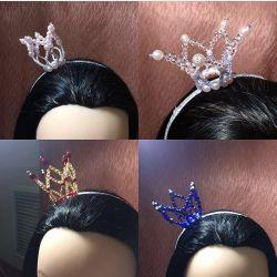 Новый комплект ободок Корона + серьги кисточки