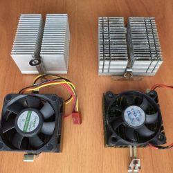 Aluminum radiator and Socket 370 fan