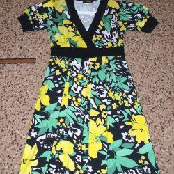 Κίτρινο-πράσινο καλοκαιρινό φόρεμα