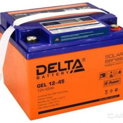 Battery DELTA GEL 12-45 with display display