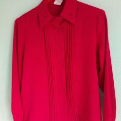 Retro cămașă de companie dimensiune canda dimensiune 42-44 poliester.