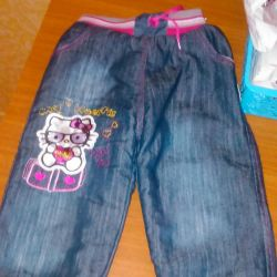Warm jeans for girls, 92