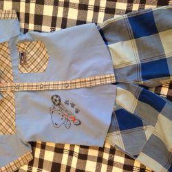 Πώληση σορτς + πουκάμισο σε 110-116cm