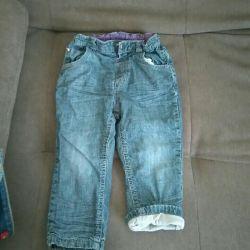 Jeans gri incalzit