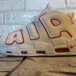 Nike Air Mai multe uptempo adidași alb 43