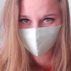 Yeniden kullanılabilir yeşil tıbbi maske