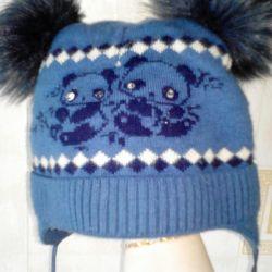 Χειμερινό καπέλο με ύφασμα