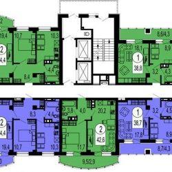 Apartment, 1 room, 39.9 m²