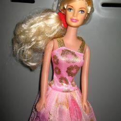 Barbie bebek sarışın pembe elbise yeni indirdi