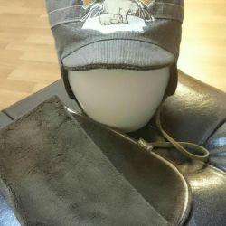 Şapka + eşarp