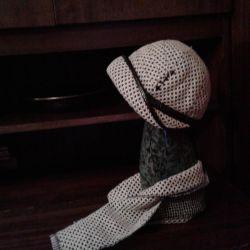 καπέλο με κασκόλ