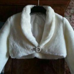 Wedding coat-cape.