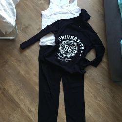Sports suit cotton three
