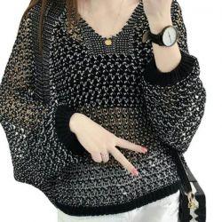 Beige and black: mesh with lurex.Novye.r.38-44.