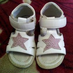 Sandalet 13 cm beyaz