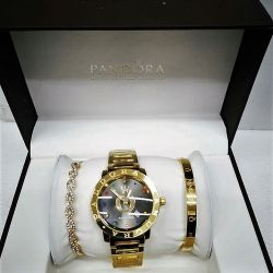 Pandora. Saat + 2 bileklik