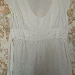 Блуза лен 46