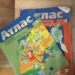 Atlases on geography 7-8 class