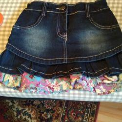 Юбка джинсовая на рост 128