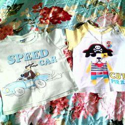 2 tricouri pentru copii