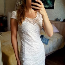 Dress white lace size S