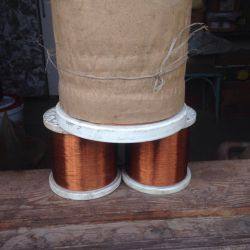 Copper wire for rewinding electric motors