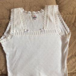 T-shirt for a girl. Panties