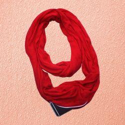 Бесконечный шарф (снуд) с карманом на молнии