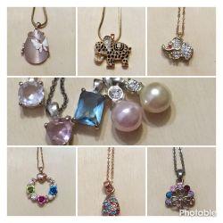 Jewelry: pendants, pendants, beads