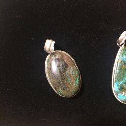 925 chrysocolla pendant