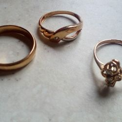 Rings. Gold