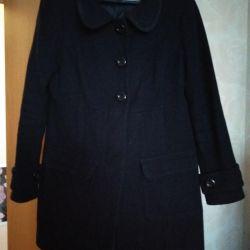 The coat is warm, wool