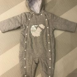 Papitto coveralls for 5-9 months warmed