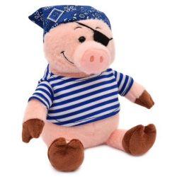Soft toy piggy pirate